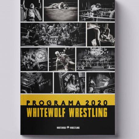 Programa Whitewolf Wrestling 2020 Mockup