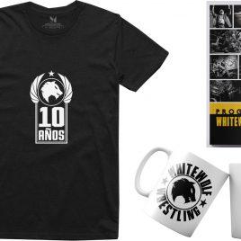 LOTE 10 AÑOS Camiseta, taza y programa 2020